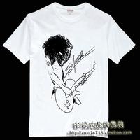 Free Shipping Shirt guns n roses 100% cotton short-sleeve T-shirt slash guitar men's