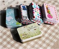 Hot selling 10pcs/lot  Zakka Groceries Small Jewelry Gift Metal Jewelry Box Rectangular  Tin Boxes Free shipping