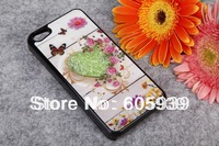 Luxury Hard Plastic Swarovski Case Bling Rhinstone Diamond Crystal Butterfly Cover Protector Shell For iphone 4 4s 5G with gift