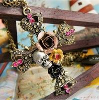 X102 accessories flower rose skull vintage cross sweater