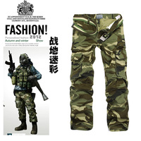 Camouflage pants fashion men's casual pants pocket (Does not include belt) size w28 30 32 34 36 38 J202