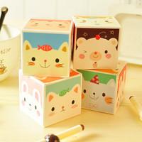 stationery yoofun animal way boxed memo pad note pad  2214