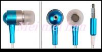 Metal Earphones For iPod MP3 MP4 earphone for iPad 3.5mm jack 30 pcs a lot 7 Colors Noise Cancelling