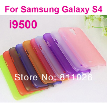 0.3MM Ultra-thin PC matte Case for Samsung Galaxy S4 i9500,100pcs/lot,free shipping