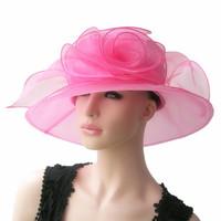 Tender feelings flower - ihat yarn hat banquet professional hat organza