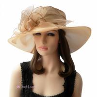 Crystal big flower ihat yarn hat d'Angleterre organza female fashion banquet
