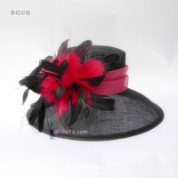 Tantalising two-color - ihat fashion haircord hat feather women's linen