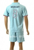 new  13 - 14 France 8# GOURCUFF T-SHIRT soccer jersey blue  2013-2014  season  national team jerseys cheap  hot sell good