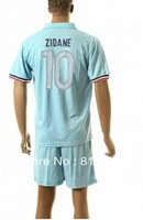 new  13 - 14 France 10# ZIDANE T-SHIRT soccer jersey blue  2013-2014  season  national team jerseys cheap  hot sell good