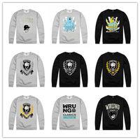 Wrung Division Long Sleeve Sweatshirt Fashion Men Leisure Wear High Quality Sportwear Wholesale Cheap Price Hip Hop Jumper