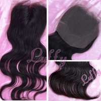 "FREE SHIPPING,queen hair products,top closure hair,lace top closure swiss lace 4""*3.5"" body wave shedding and tangle free"