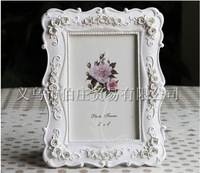 Hot Sale European-style 6 Inch White Resin Photo Frame Roses Creative Wedding Dress Picture Frame Free shipping