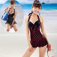 2013 Hot Swim Wear Women Fashion steel one-piece dress swimwear female sexy push up small slim hot spring swimsuit