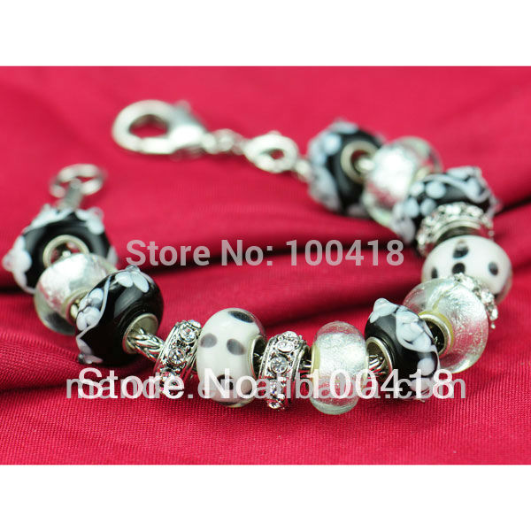 Free shipping 2013 glass beads bracelets,High quality murano glass bracelets,lampwork bracelets(China (Mainland))