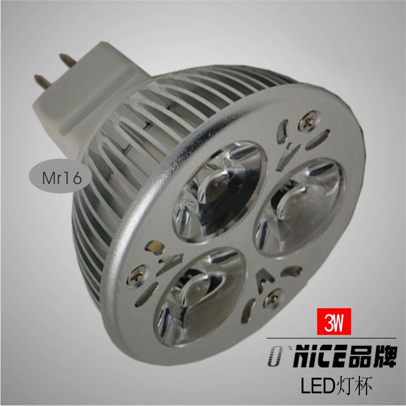 Led lighting light bulb mr16 gu5.3 gu10 home appliances 3w cup(China (Mainland))