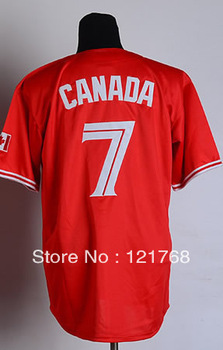 cheap baseball jerseys free shipping #7 Jose Reyes Men's Authentic Canada Day Red Cool Base Baseball Jersey