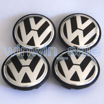 Freeshipping Volkswagen 12pcs 65mm 3B7 601 171 VW  for POLO JETTA PASSAT   Wheel Center Caps Covers Emblem