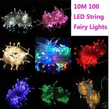 220V 10M 100 LED String Fairy Lights Christmas Wedding Party Hot