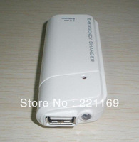 10pcs/lot New Portable AA Battery Emergency USB Charger For Phone White/black+free shipping