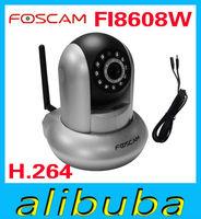 Foscam FI8608W  H.264 Pan & Tilt Wireless WIFI/802.11b/g/n silver IP Camera Support mobile watch IPCAM