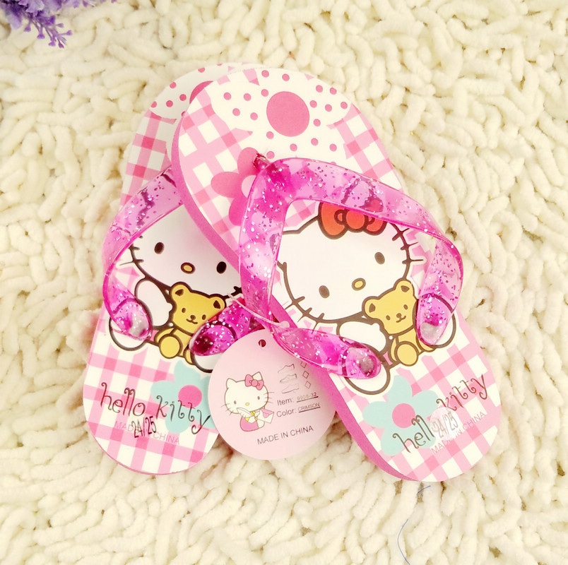 Hello kitty hellokitty female child baby child sandals flip flops shoes slip-resistant waterproof beach spa(China (Mainland))
