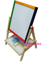 Free shipping Child puzzle wooden toy double faced two-in-one tablespoonfuls magnetic whiteboard blackboard oppssed 2