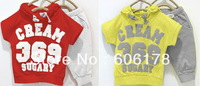 2013 new candy color baby 369 children short summer suit