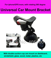 Universal Car Mount Stand Holder Bracket for iphone/mobile phone/GPS/MP4 Rotating 360 Degree, With Double Suction Cup