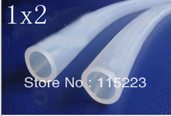 1x2mm Food Grade Medical Use Fda Thin Silicone Rubber Water Tube/ Hose/Pipe(China (Mainland))