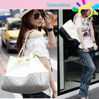 New New Fashion Color Splicing Synthetic Leather Handbag for women Shoulder Bag Tote Bag Casual13852
