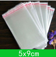 New Cellophane Bag (5x9cm) with self-adhesive seal opp bag /poly bag  for wholesale + free shipping double
