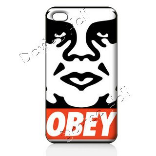 For iphone 5 iphone 4 4s ILC1105 80% OFF FOR BULK Free Shipping Hard Back Cover Case Skin OBEY ART Retail packaging