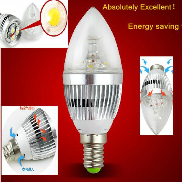 Special offer!3 years warranty super bright 3w energy-saving king LED blub, led lamps, LED candles light - bulbs free shipping(China (Mainland))