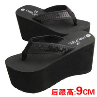 2014 Summer female slippers sandals wedges sandals high heels platform sandals slip-resistant platform flip flops