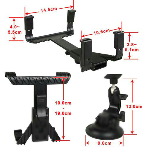 Wholesale - DHL 120pcs car GPS bracket for ipad / Tablet PC / GPS for 10&quot; ,7&quot; ,8&quot; Car Holder Bracket Universal + retail Package(China (Mainland))