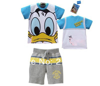 2013 Donald duck dog Short Set new model baby boy's set  2pcs tees+pant suits Free Shipping