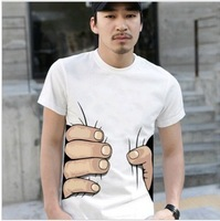 Summer brief t-shirt male short-sleeve personalized t-shirt