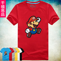 Chiliasm summer cartoon short-sleeve male basic t-shirt male