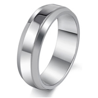 2012 Korean version of the new hot jewelry wholesale simple smooth titanium steel personalized men 's rings GJ253