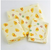 Min Order $20 (mixed order) Retail Yellow duck pattern baby waterproof changing mat 100% cotton baby changing mat