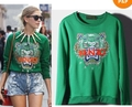 Wholesale New Popular 2013 Fashion green Tiger Head Chemise Jumper Sweater Top