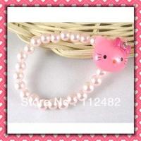 Free Shipping helle kitty head kids cute bracelet 100pcs/lot jewelry bracelets