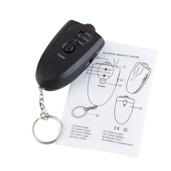 NEW Portable Keychain LED Alcohol Breath Tester Breathalyzer