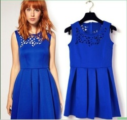 European Style dress AS- OS 2013 taobao shipping it girl Blue street storm European Size kpop tatu blouses and tops for women(China (Mainland))
