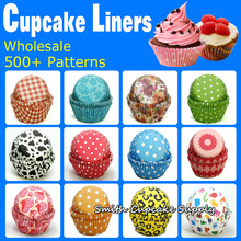 Assorted 1,000 pcs ,10 Colorful Patterns Party Favor Grease proof Cupcake Liners(China (Mainland))