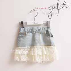 NEW Girls Casual child short skirt summer princess skirt C814(China (Mainland))