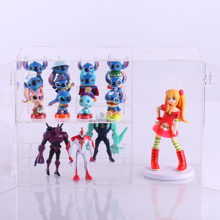 Model hand-done dust box hinge open multi-layer acrylic display box customize(China (Mainland))