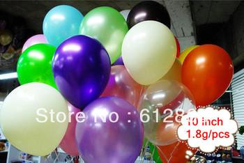 [Balloons Wholesale]latex balloons ,100pcs/lot ,10 inch ,1.8g/pcs,pearl balloons ,wedding balloon ;wholesale