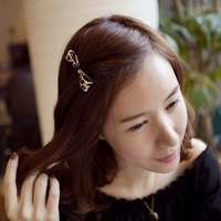 Hair accessory noble elegant bow hairpin side-knotted clip bangs clip frog clip hair accessory