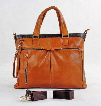 Free shipping!!2013 high quality genuine cowhide leather casual man bags men's handbags Messenger Bag Laptop Bag 7128